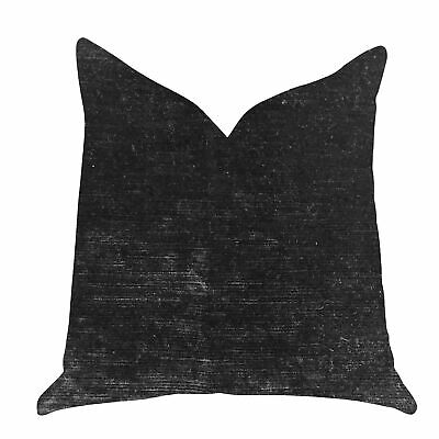 Plutus Onyx Caviar Velvet Decorative Throw Pillow In Black