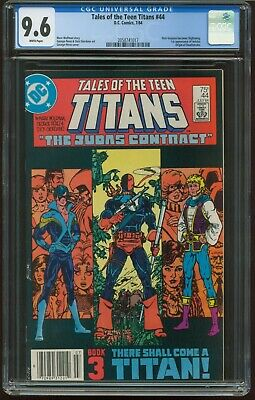 Tales Of The Teen Titans # 44 Cgc 9.6 Nm- Judas Contract Nightwing T-422