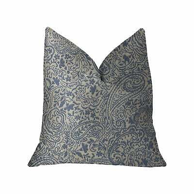 Plutus Kingston Waverly Blue And Ivory Luxury Throw Pillow