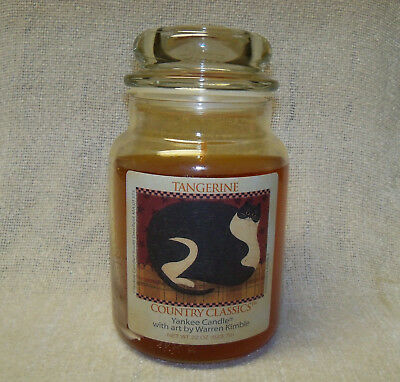 Yankee Candle Country Classics ~tangerine~ Candle W/warren Kimble Label - 22 Oz