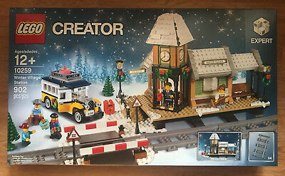 Ships Priority Mail Factory Sealed Lego Winter Village Train Station Set # 10259