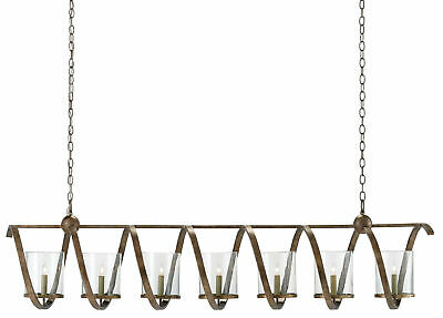 "Currey And Company 9000-0263 Maximus 7 Light 64""w Taper Candle - Bronze"