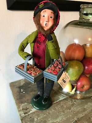 Byers Choice Johnny Appleseed W Apple Tray 2008 Yankee Craftsman Exclusive *