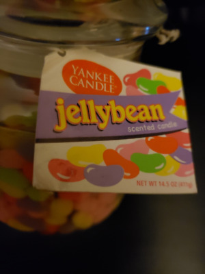 Yankee Candle Jellybean Scented Candle Jar -14.5 Oz -  Very Rare!!!