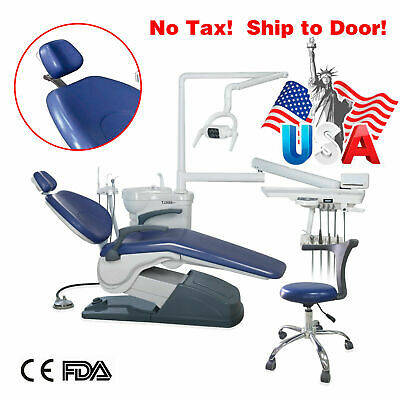 Fda Dental Chair Control Hard Leather Dc Motor Auto Water With Doctor Stool