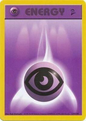 Psychic Energy 129/130 - Pokemon Card - Base Set 2 - Wizards of the Coast - LP