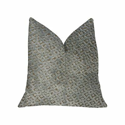 Plutus Metropolis Silver And Taupe Luxury Throw Pillow