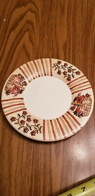 Yankee Candle- Fall Pumpkin Flowers Country Harvest Candle Plate Pretty