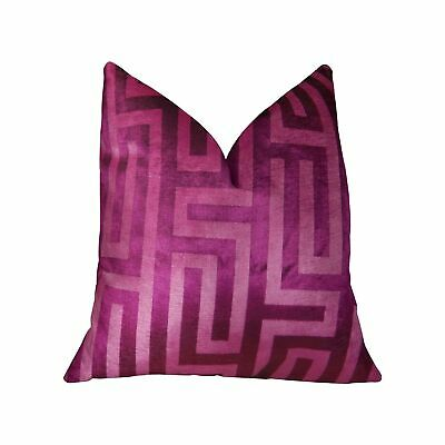 Plutus Velvet Maze Runner Fuchsia Handmade Decorative Throw Purple Double Sided