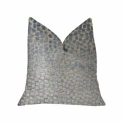 Plutus Dusky Gem Blue And Silver Luxury Throw Pillow