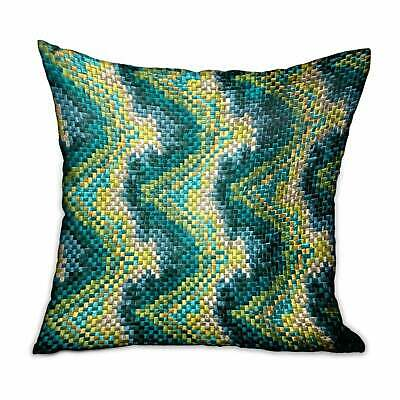 Plutus Montage Haven Green Geometric Luxury Decorative Throw Green Double Sided