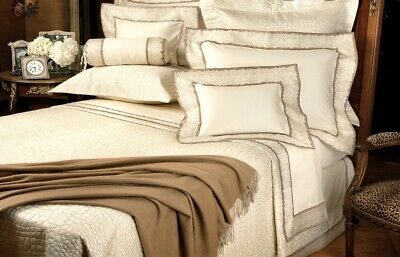 Schweitzer Linen - Rimini Cashmere Throw - Taupe  Brand New - Free Shipping