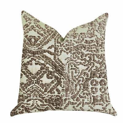 Plutus Dusky Cosmo Textured Luxury Decorative Throw Pillow Brown, Beige Double S