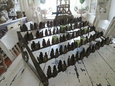 Omg Old Metal Church Altar Votive Candle Holder For 50 Candles With Cross