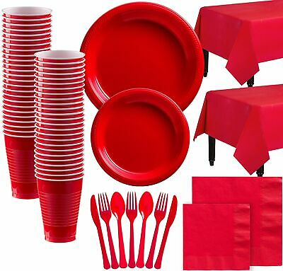 Plastic Tableware Kit For 100 Guests, Includes 852 Matching Pieces