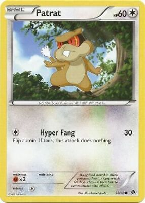 Patrat 78/98 - Common Pokemon Card - Emerging Powers Set (2011) - NM