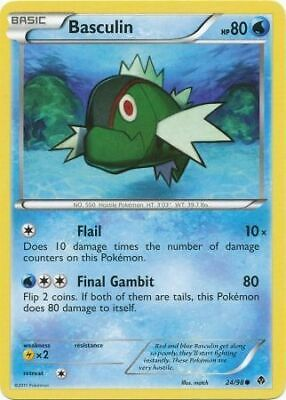 Basculin 24/98 - Common Pokemon Card - Emerging Powers Set (2011) - NM
