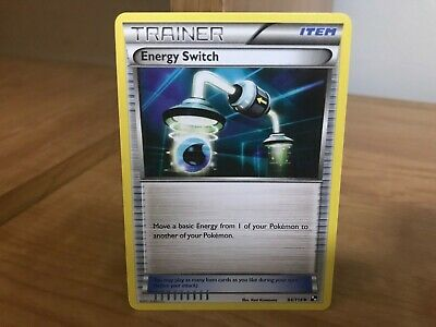 Pokemon Card Trainer Energy Switch Black & White 94/114 in Good Condition!