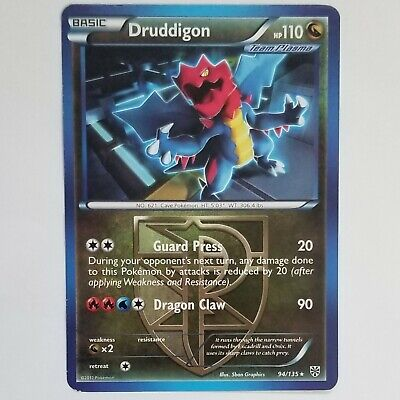 Druddigon 94/135 Plasma Storm RARE SHATTERED Non HOLO Theme Deck Pokemon Card
