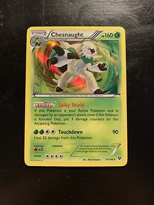Chesnaught XY Series 14/146 Pokemon Card Holographic