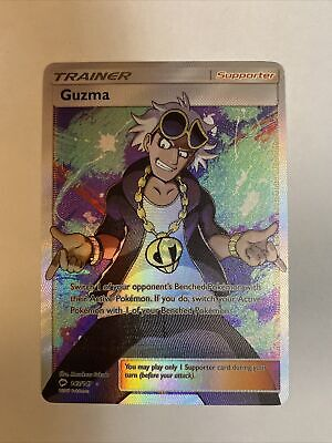 Full Art GUZMA 143/147 Burning Shadows Pokemon Card Near Mint