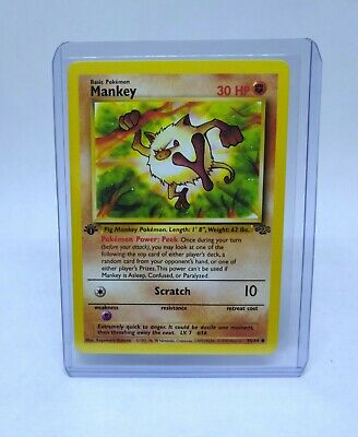 POKEMON - Mankey 55/64 1st Edition - Jungle Set NM