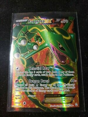 Rayquaza-EX - 123/124 - Full Art Ultra Rare NM Dragons Exalted Pokemon