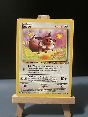 EEVEE - Jungle Set - 51/64 - Common - Pokemon Card - Unlimited Edition - NM