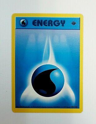 Water Energy 1st First  Edition Pokemon Card Base Set Shadowless 102/102 NM