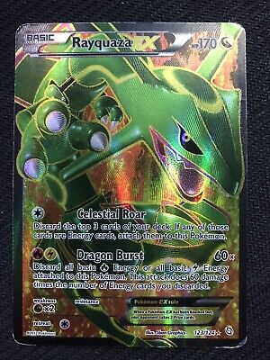 🔥 LIGHTLY PLAYED Rayquaza EX Full Art 123/124 Dragons Exalted Pokemon Card