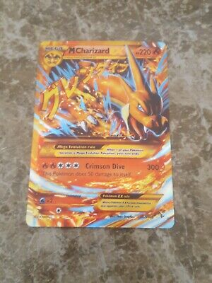 SECRET RARE Mega M Charizard EX Pokemon 107/106 XY Flashfire Holo Foil Zard MINT