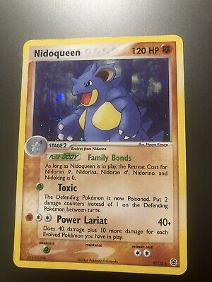 2004 Pokemon Nidoqueen 9/112 EX FireRed and LeafGreen  Holo Rare