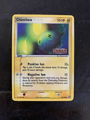 Chinchou 49/108 Holo Rare Ex Power Keepers Stamped Pokemon Card