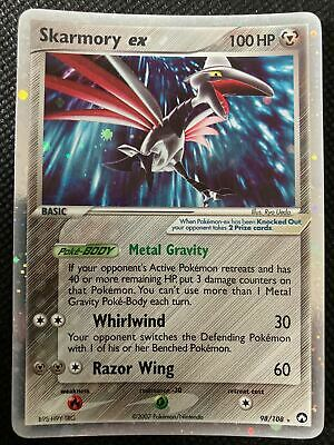 Skarmory EX 98/108 - EX Power Keepers - Holo Pokemon Card - NM Condition