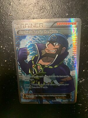 Archie's Ace in the Hole 157/160 - Primal Clash Full Art Pokemon Card - NM