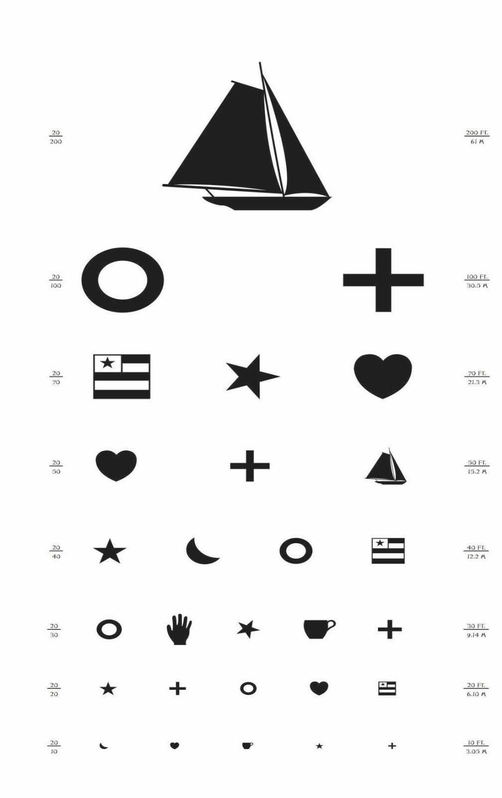 Free printable allen eye chart decorativestyle allen picture eye chart images free any examples nvjuhfo Images