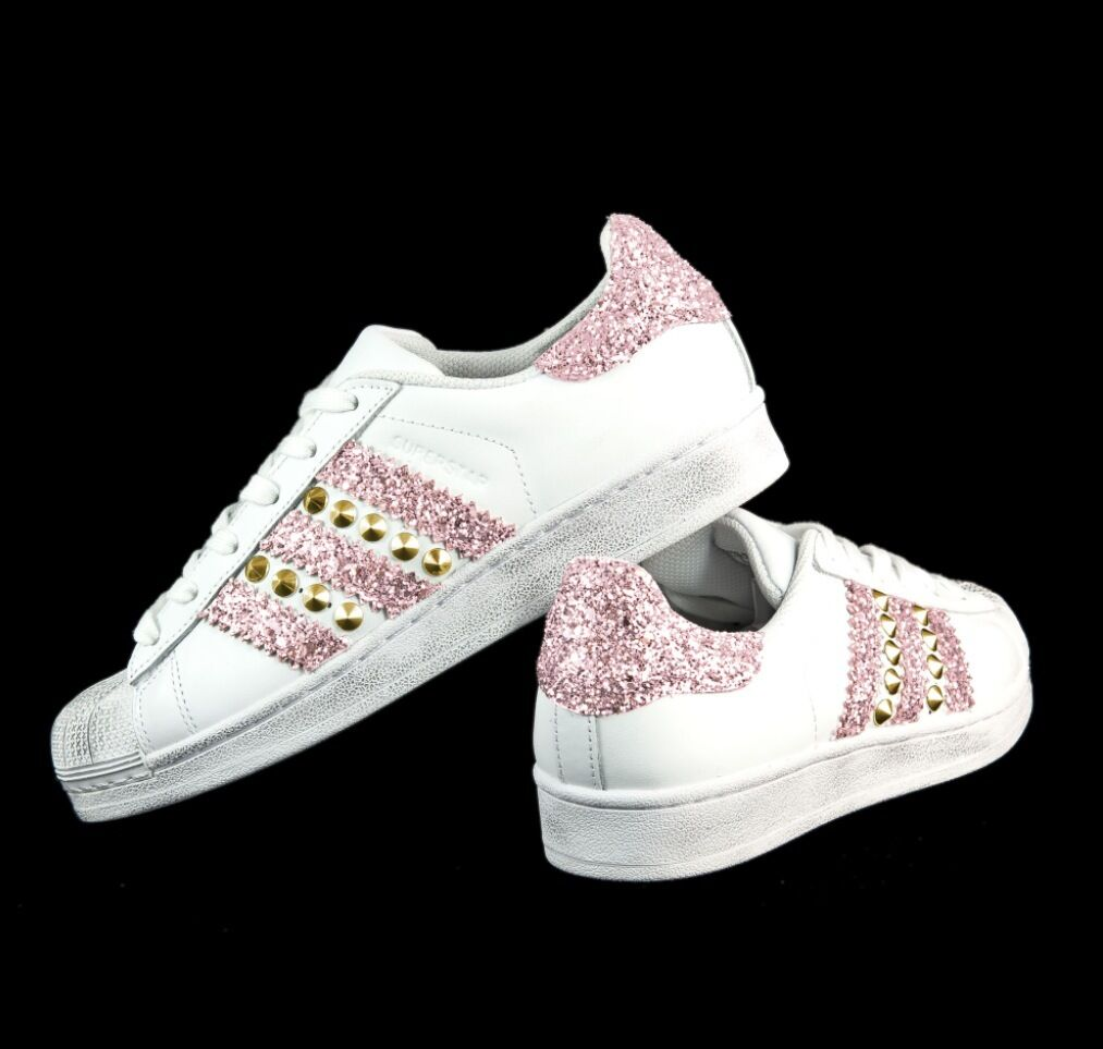 adidas superstar rosa brillantinato