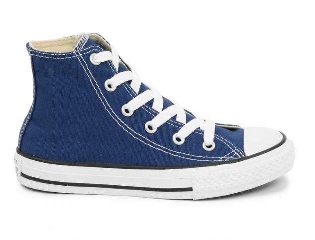 CONVERSE ALL STAR 351168C ROADTRIP BLU Alta Junior Bambino Suola Bianca Cotone
