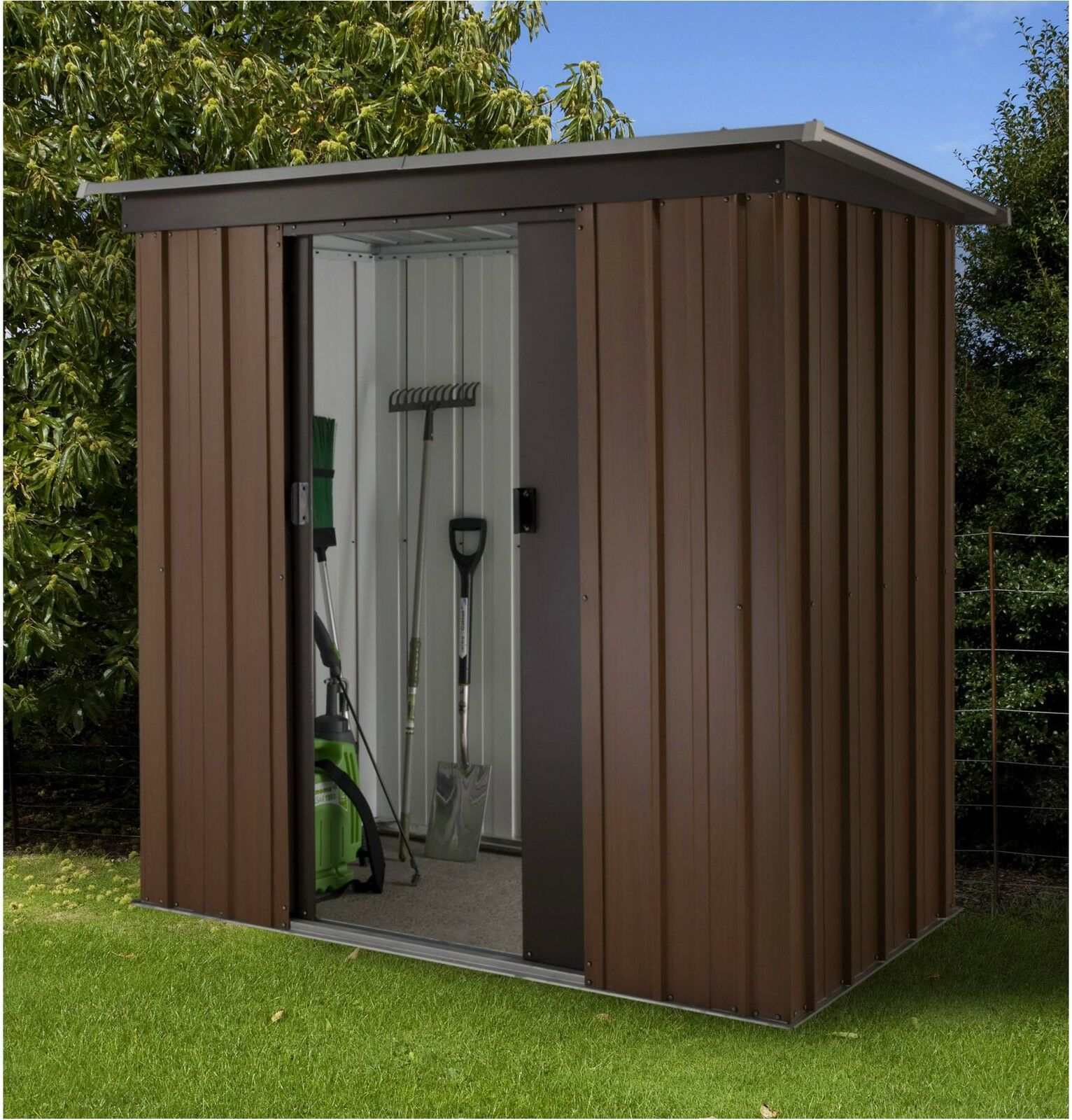 8 x 71 ft 24 22m metal apex garden shed courtesy of westmount