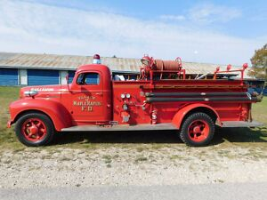 1945 International Harvester K5 Fire Truck 1945 International K5 Pumper Fire Truck Fully Equipped300