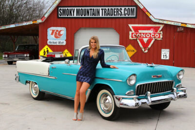 1955 Chevrolet Bel Air/150/210  1955 Chevy Bel Air Convertible Frame OFF 265 Powerglide TOP QUALITY RESTO400