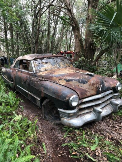 1949 Cadillac Other Series 62 Barn Find, Covered in Blankets, Parked over a carpet, Solid Floors, Car intact.400