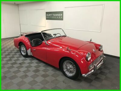 1960 Triumph TR3 60-SPOKE CHROME WIRE WHEELS. 4-SPEED, FULL-SYNCROMESH 1960 TRIUMPH TR3A SPORTS ROADSTER. UPGRADED 2.2 LITER ENGINE. NICE DRIVING CAR.400