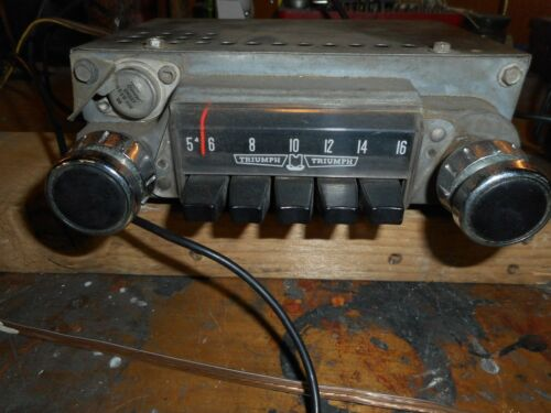 Vintage Triumph factory AM radio TR4 TR4A TR6  complete and working