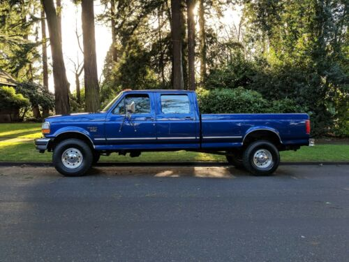 1996 FORD F350 CREW CAB XLT 4X4 7.3 DIESEL 5 SPEED ONLY 71,339 ORIG MILES 1OWNER