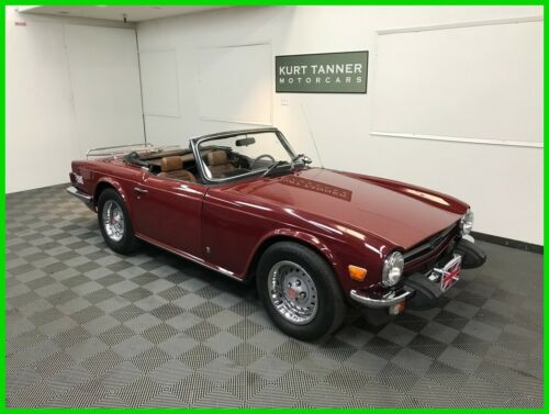 1974 TRIUMPH TR-6 CONVERTIBLE. 96,994 MILES. EXCELLENT RUNNING, DRIVING CAR.