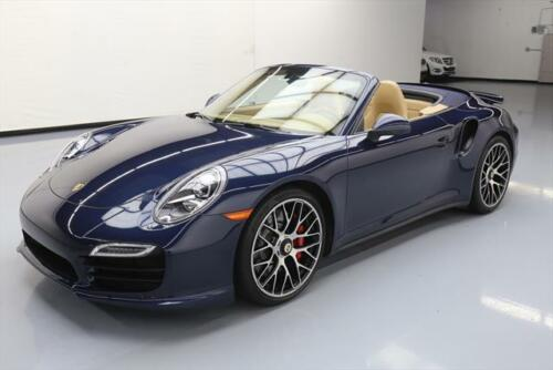 2014 PORSCHE 911 TURBO CABRIOLET AWD PDK NAV 20'S 23K #173555 Texas Direct Auto