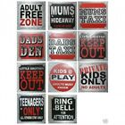 Fun Door Signs 8cm X 8cm Bedroom Signs