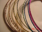 """Colored Bangles Bracelet 8"""", varies 7.25 inches round,"""