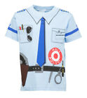 Kinder Uniform Kostüm T-Shirt * Polizei Blau 92/98 bis 140/146